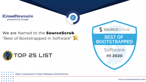 icrowdnewswire powered by google named to the sourcescrub best of bootstrapped in software top 25 list