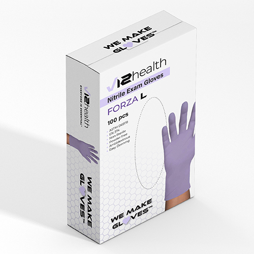 v12 health launches new line of nitrile medical exam gloves